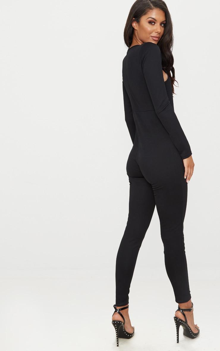 Black Cut Out Top Jumpsuit 2