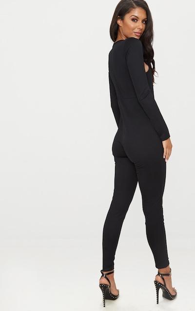 Black Cut Out Top Jumpsuit