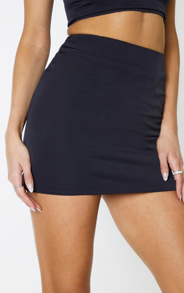 Tall Black Woven Mini Skirt 6