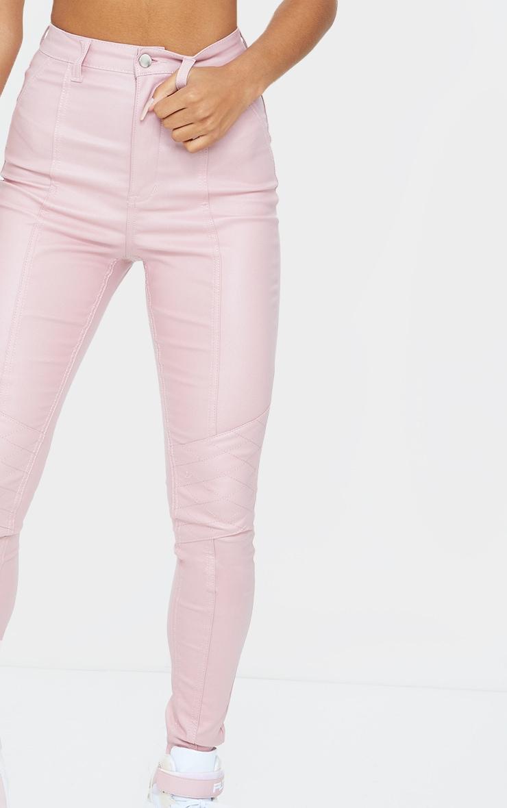 Rose Biker Coated Jeans 4