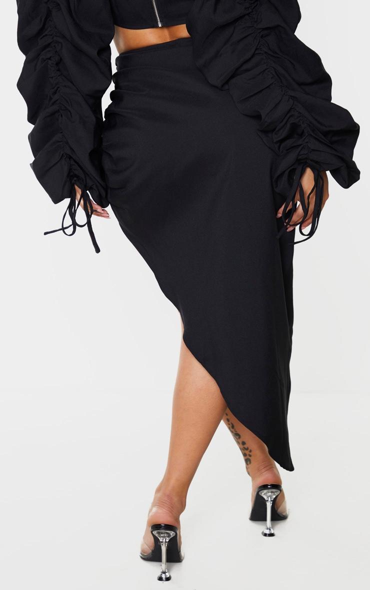 Shape Black Ruched Front Midi Skirt 3