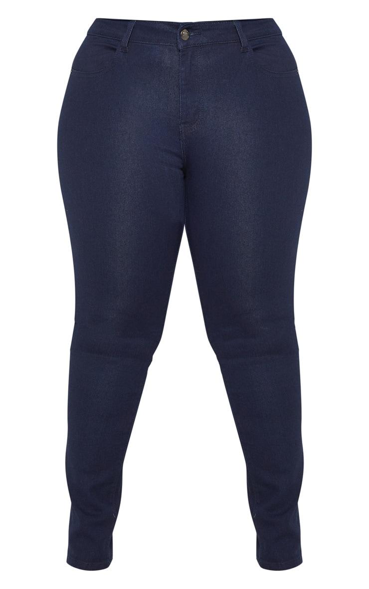 Plus Mid Wash Pocket Detail Skinny Jeans 3