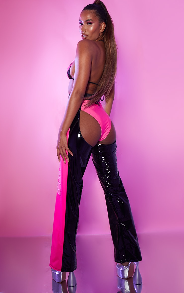 PRETTYLITTLETHING Black And Pink Sexy Boxing Club Outfit 2