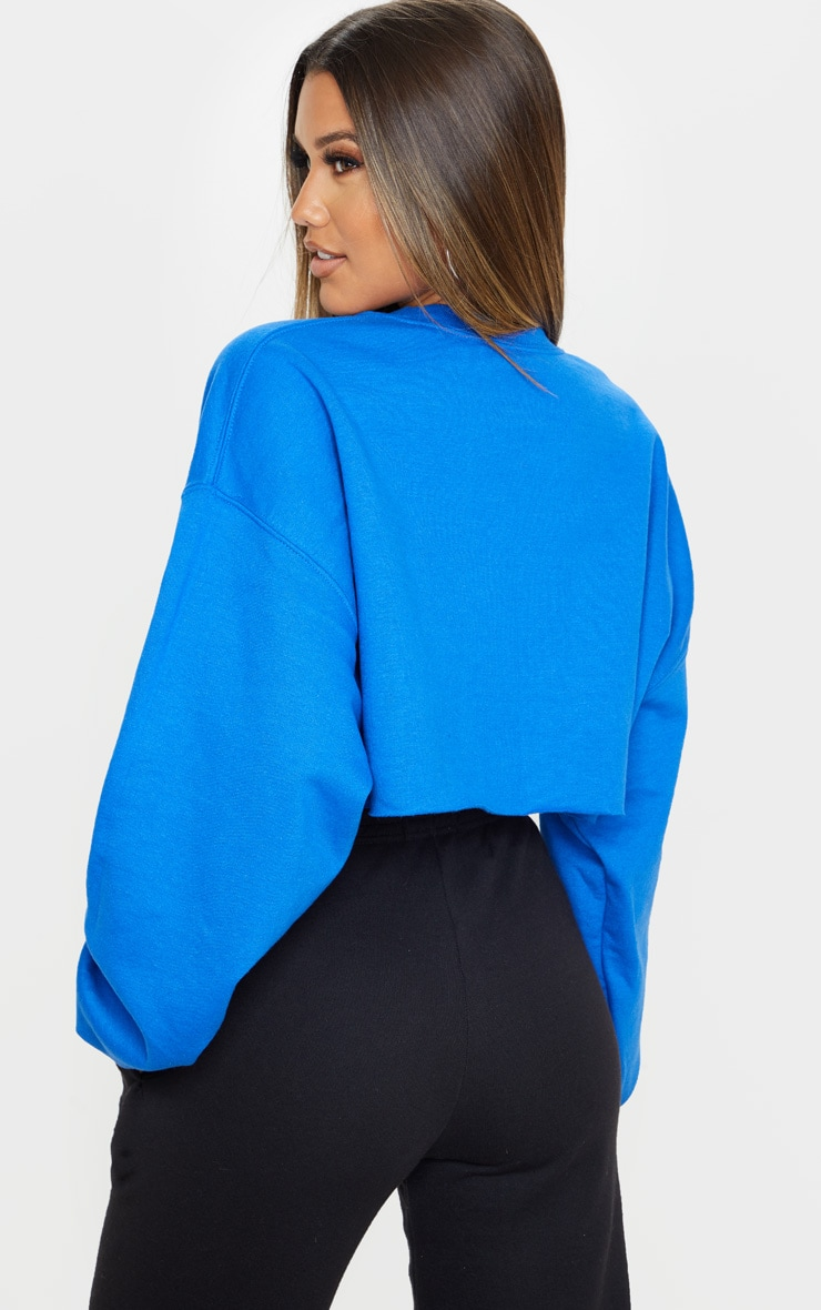Royal Blue Ultimate Cropped Sweater 2