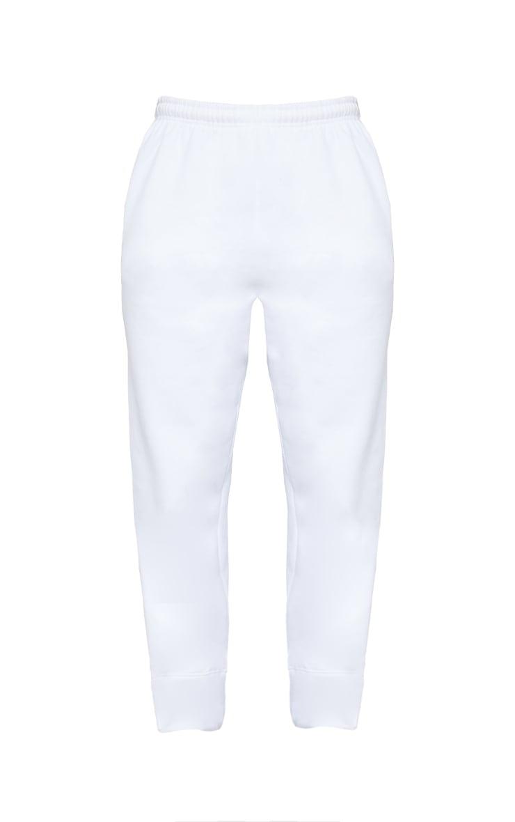 White Seam Detail Straight Leg Joggers 5