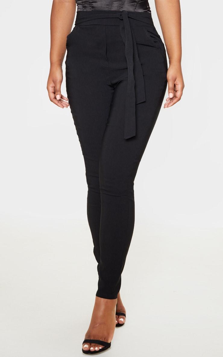 Pantalon skinny noir stretchy à taille haute nouable 2
