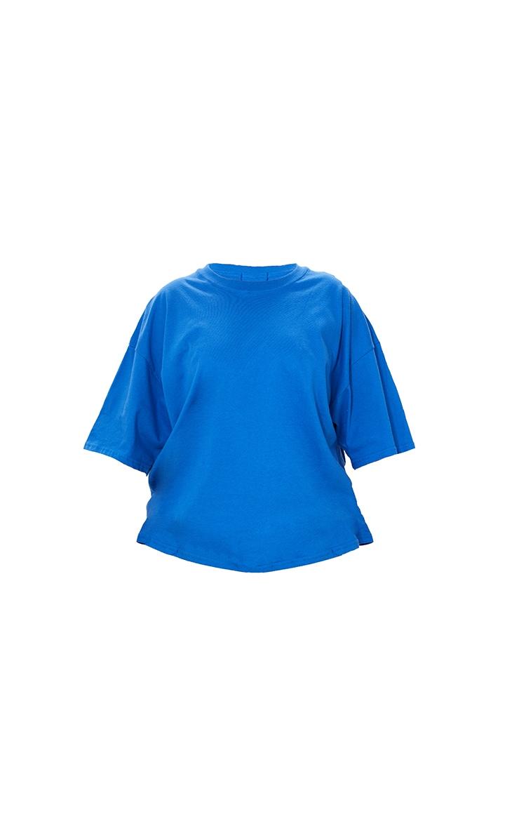Plus Bright Blue Oversized Boyfriend T Shirt 5