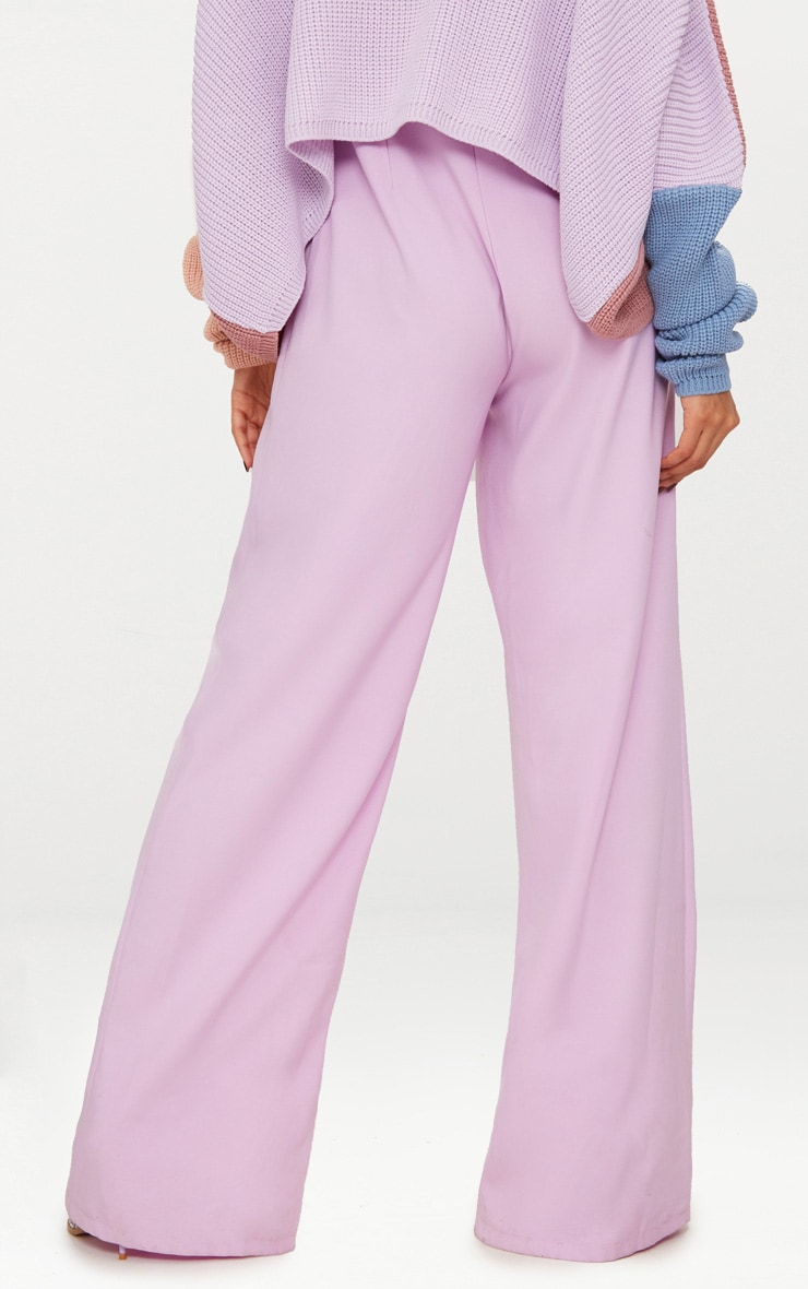 Lilac High Waisted Heart Zip Wide Leg Pants 5