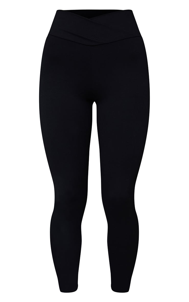 Black Sculpt Luxe Ruched Bum Gym Leggings 5