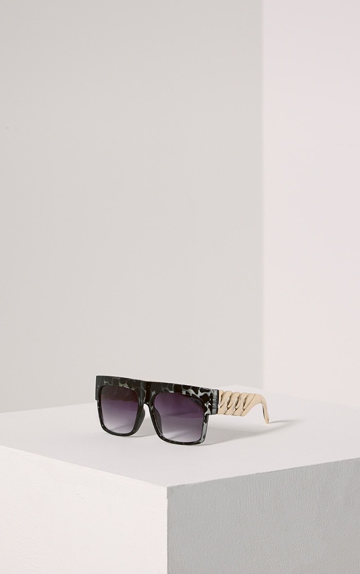 Nora Grey Leopard Chain Sunglasses 1