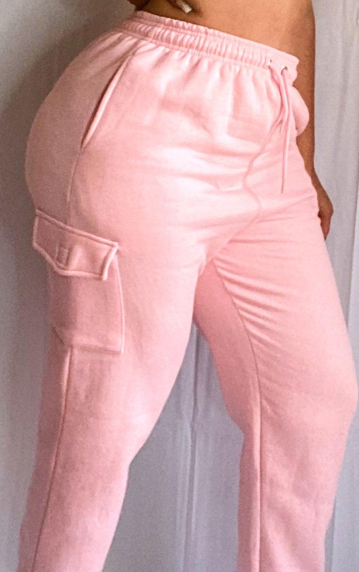 Plus Baby Pink Pocket Detail Joggers 4