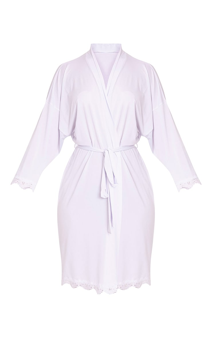 Bride White Slinky Dressing Gown 3
