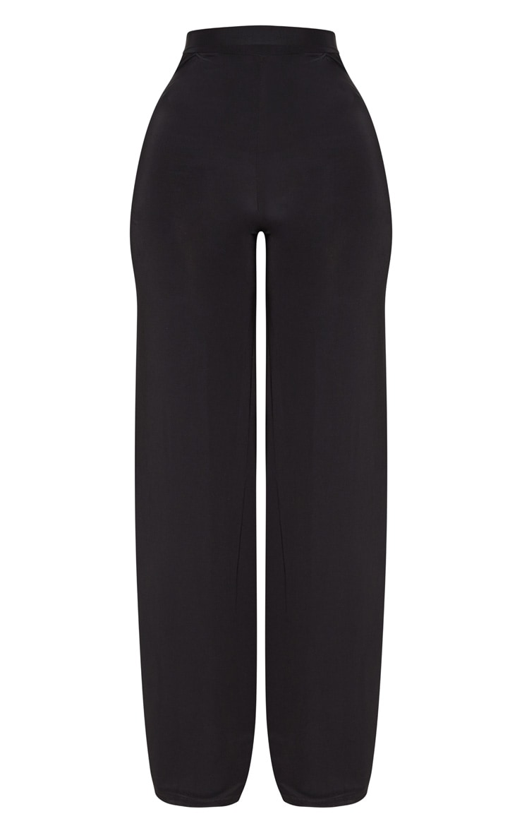 Shape Black Slinky Side Split Wide Leg Trousers  3