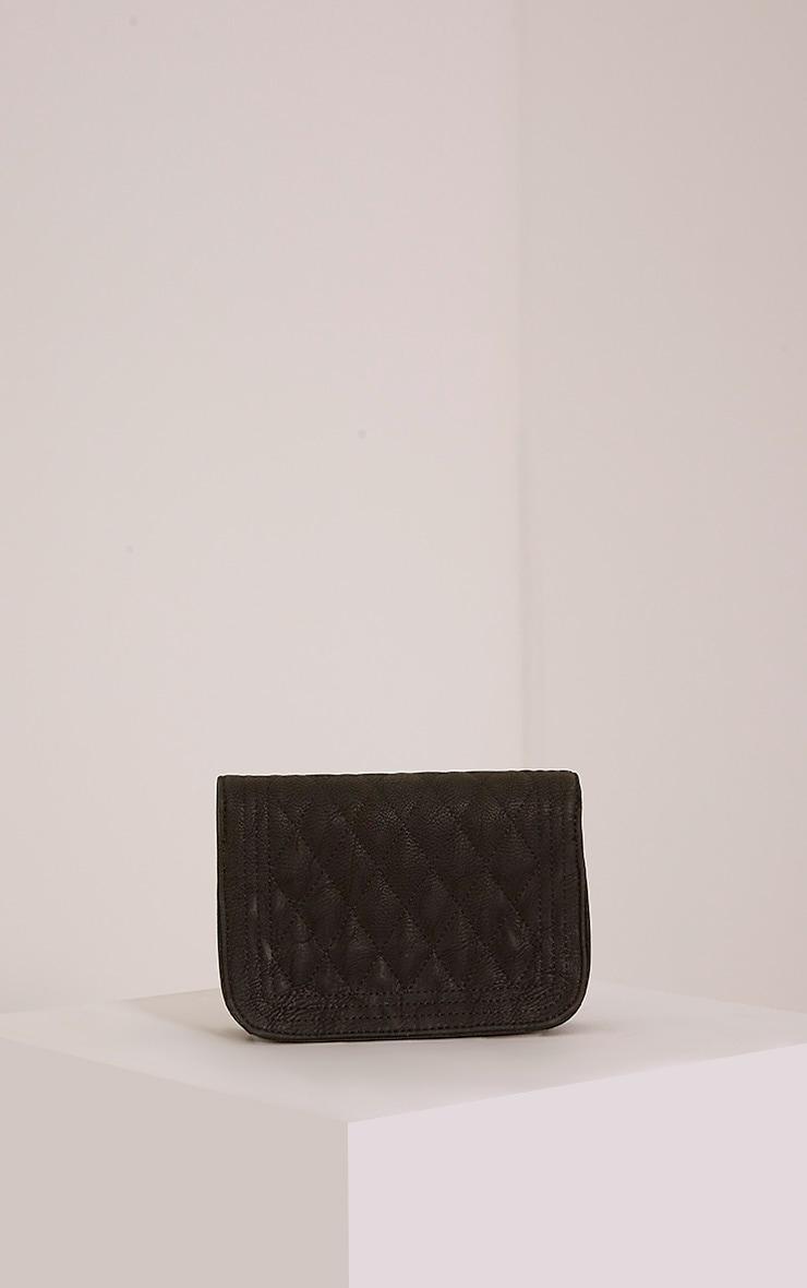 Emma Black Quilted Chain Strap Shoulder Bag 3