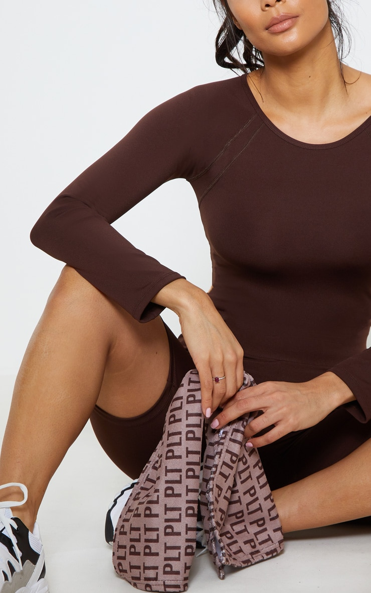 Chocolate Cover Stitch Long Sleeve Gym Top 5