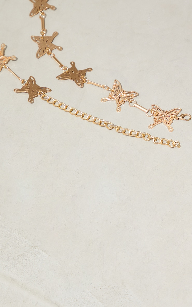 Gold Butterfly Chain Belt 3