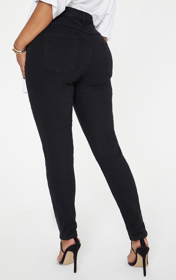 Shape Black Extreme Rip Skinny Jeans 4