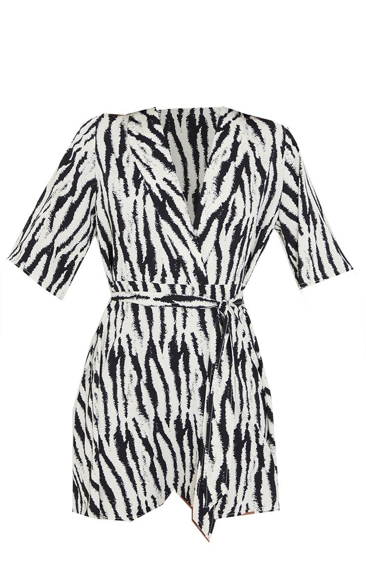 Black Zebra Print Tea Dress 5
