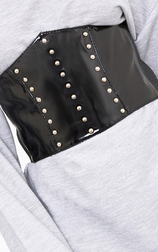 Black Patent Studded Corset Belt 3