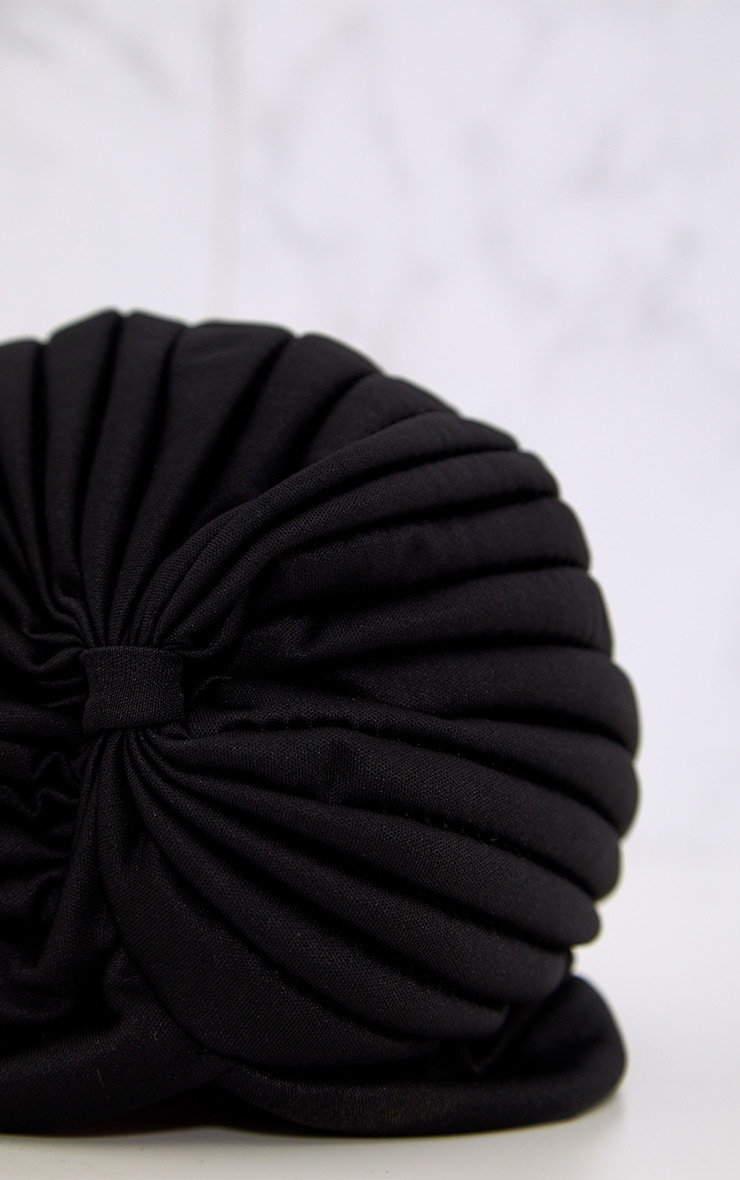 Black Knotted Turban 4