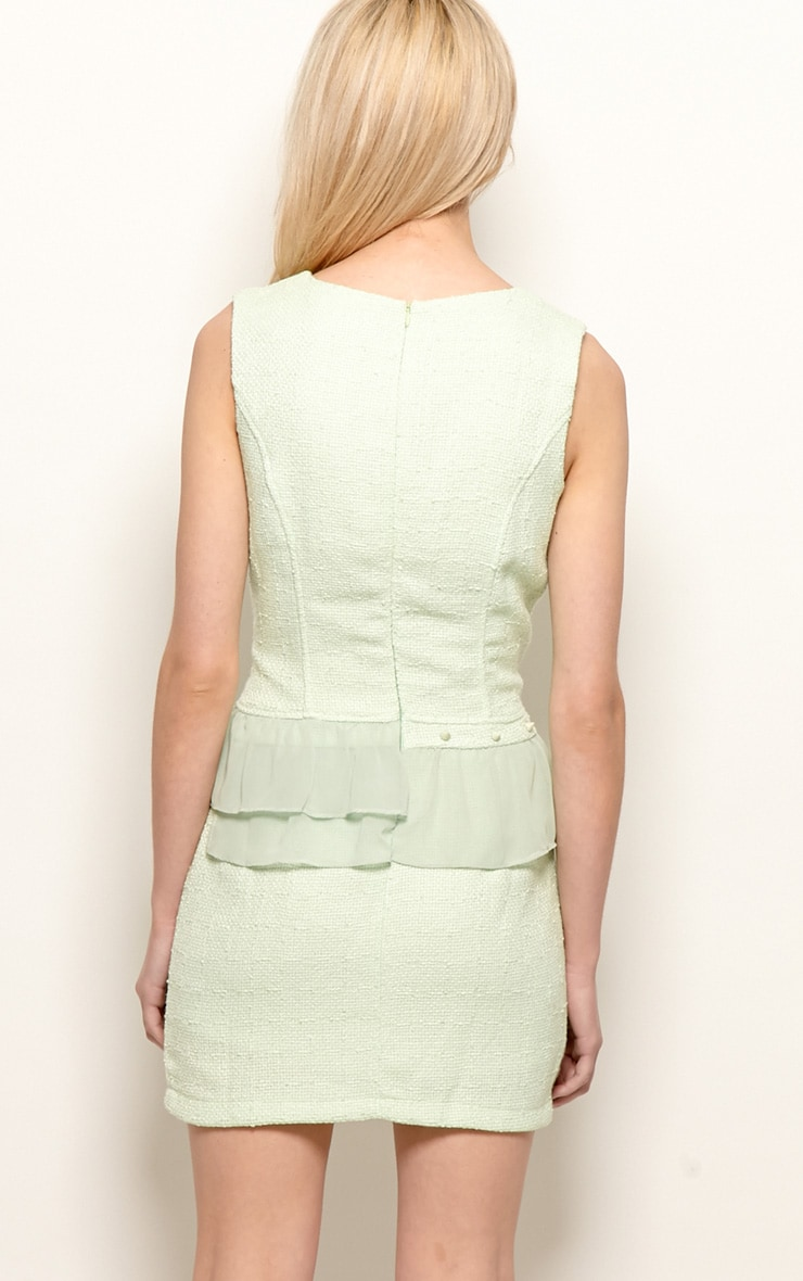 Lola Mint Boucle Peplum Dress  2