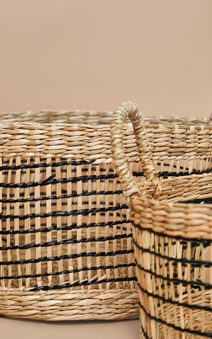 Seagrass Open Weave Baskets 2 Pack 4