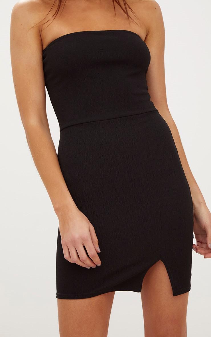 Layala robe moulante bandeau détail fente noire 5