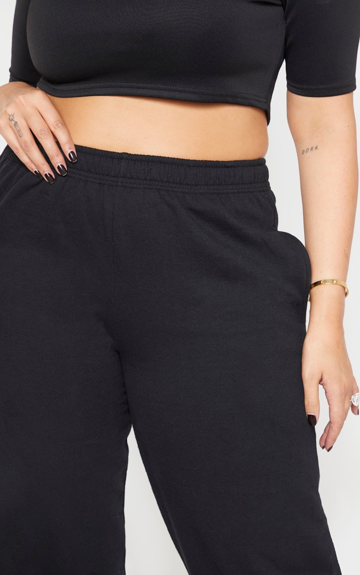 Plus Black Casual Sweat Jogger 5