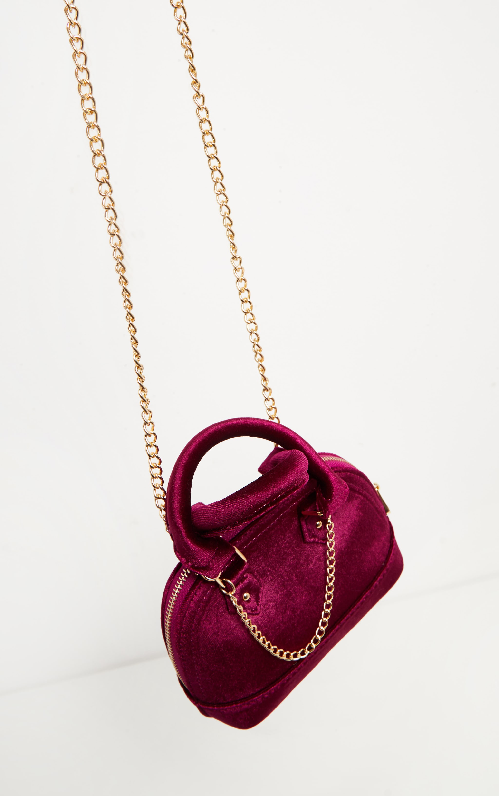 Rose Velvet Chain Trim Mini Bag 6