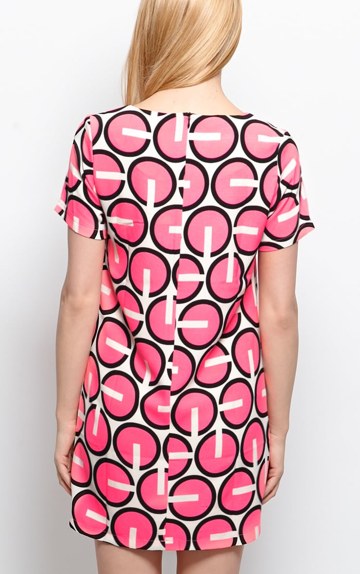 Isa Neon Abstract Shift Dress 3