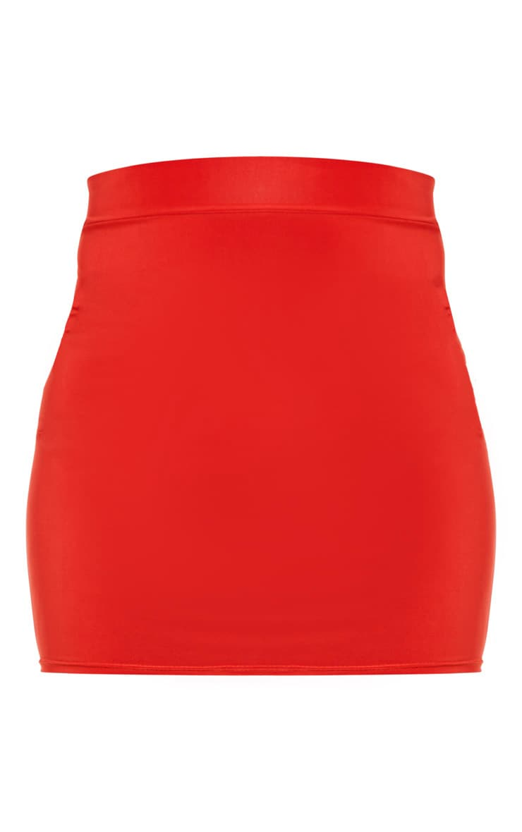 Burnt Orange Ruched Seam Detail Mini Skirt  3