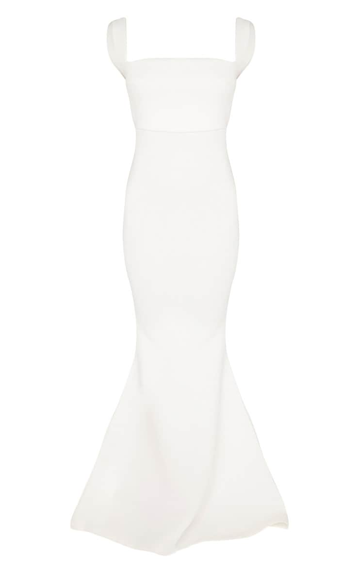 White Strappy Square Neck Maxi Dress 3