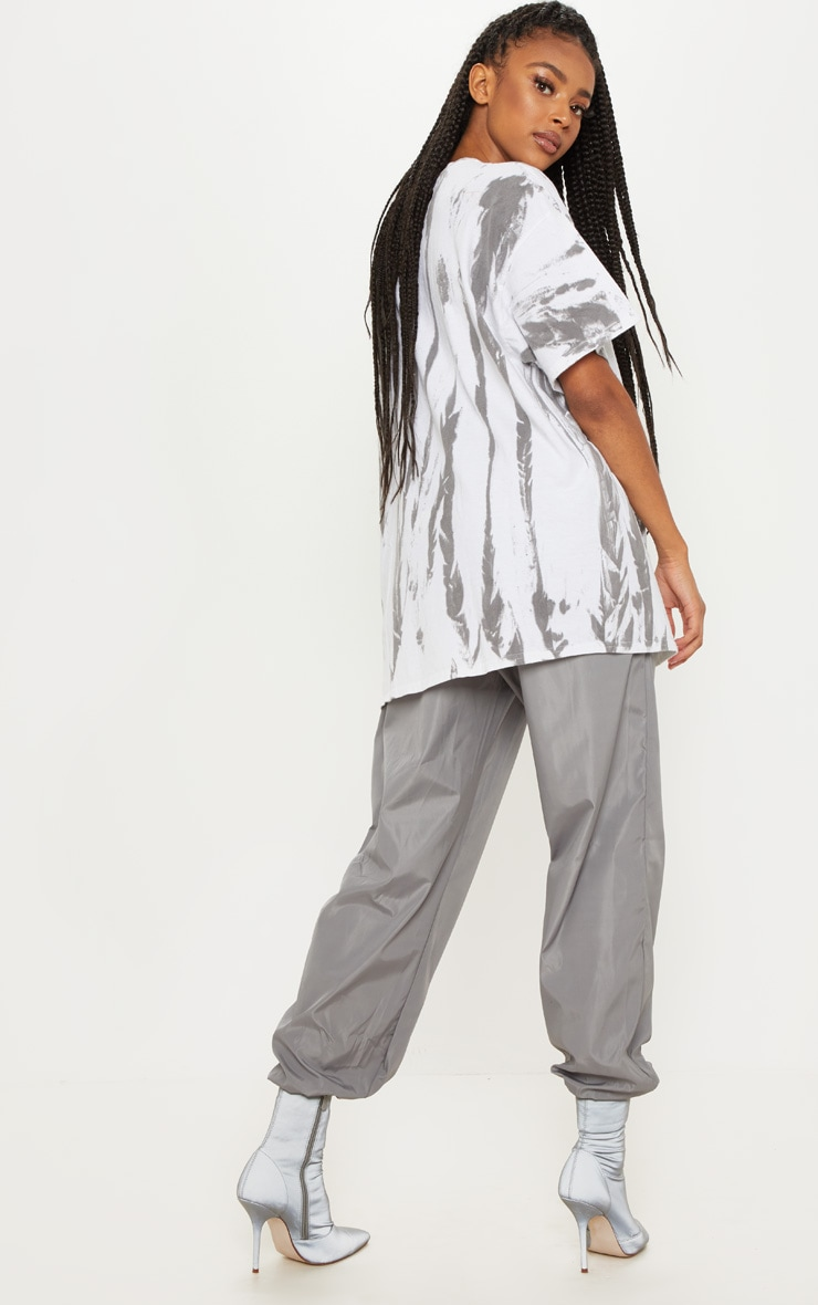 White Tie Dye Oversized T Shirt 2