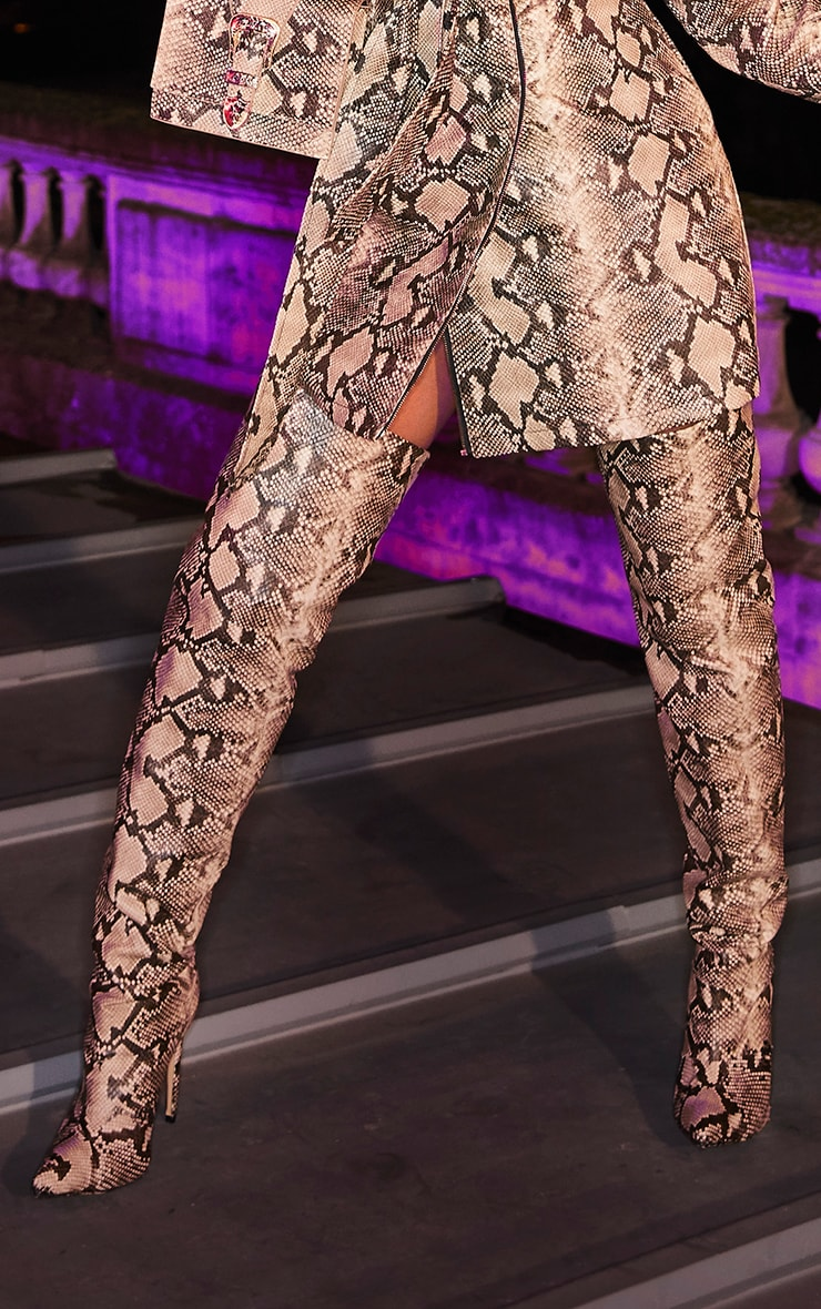 Snake Thigh High Boot 1