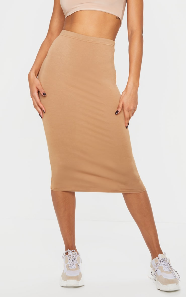 Basic Camel Midi Skirt 2