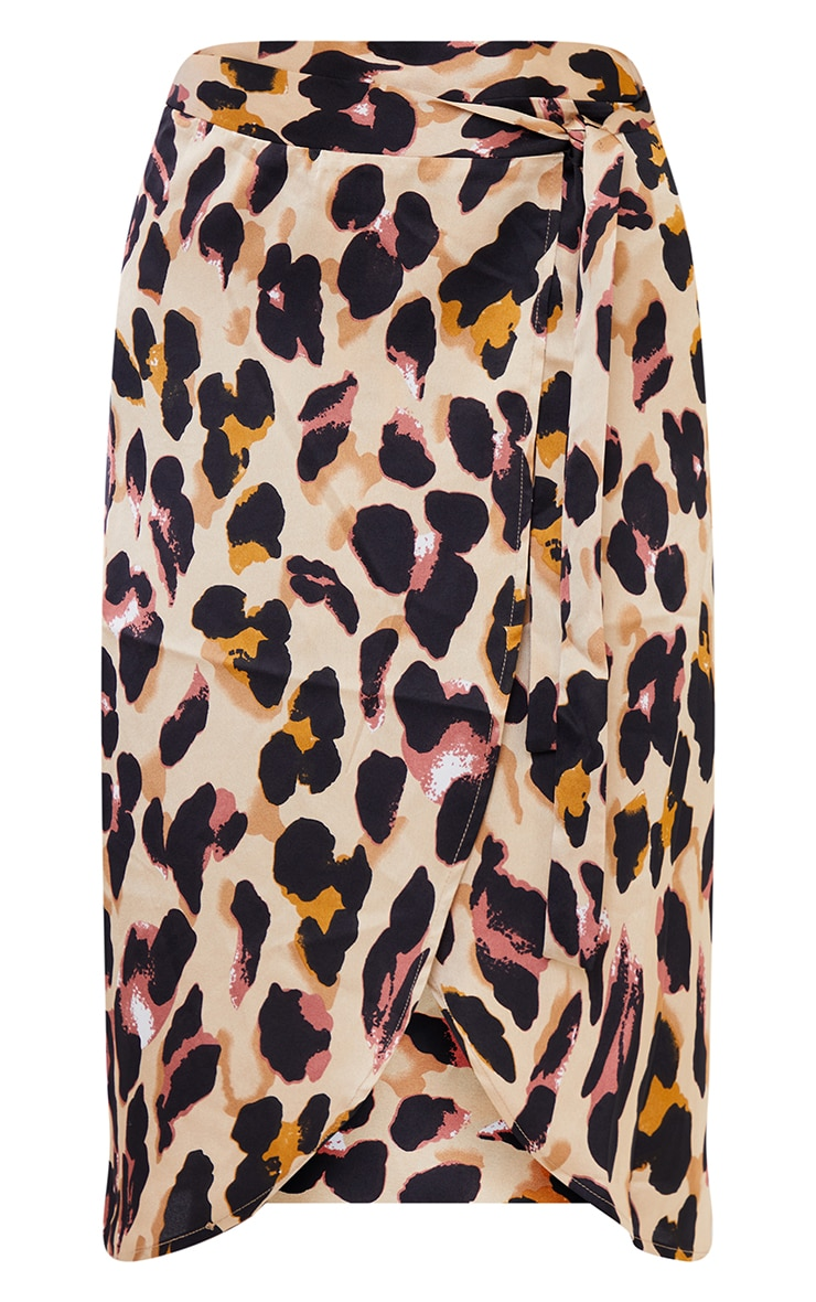 Leopard Print Wrap Around Midi Skirt 5