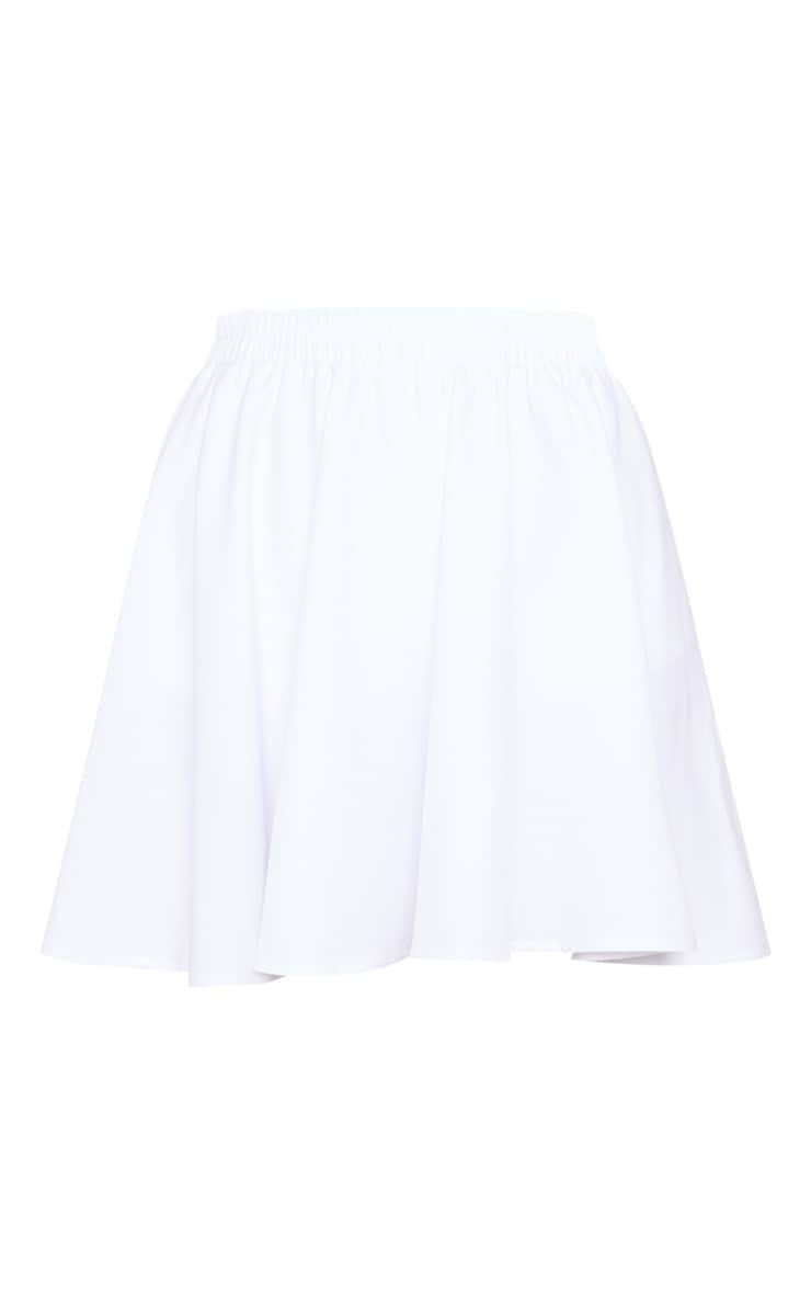White Floaty Mini Skirt 3