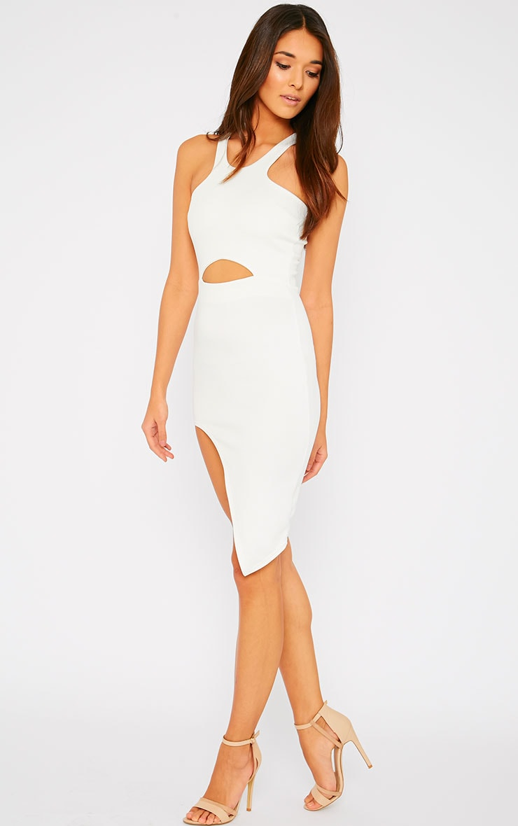 Sydney Cream Cut Out Curve Split Dress 5