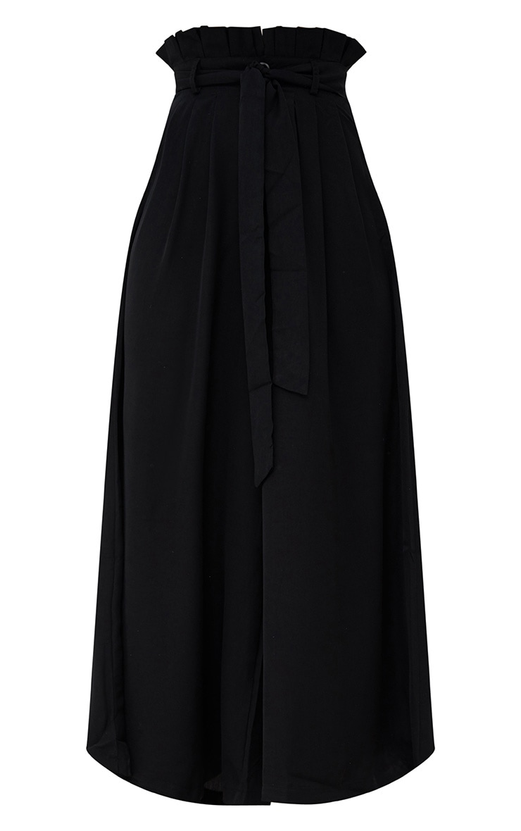 Black Wide Leg Paperbag Trousers 3