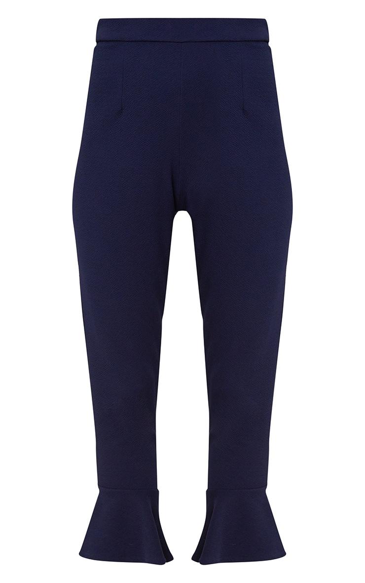 Navy Flare Hem Trouser 3