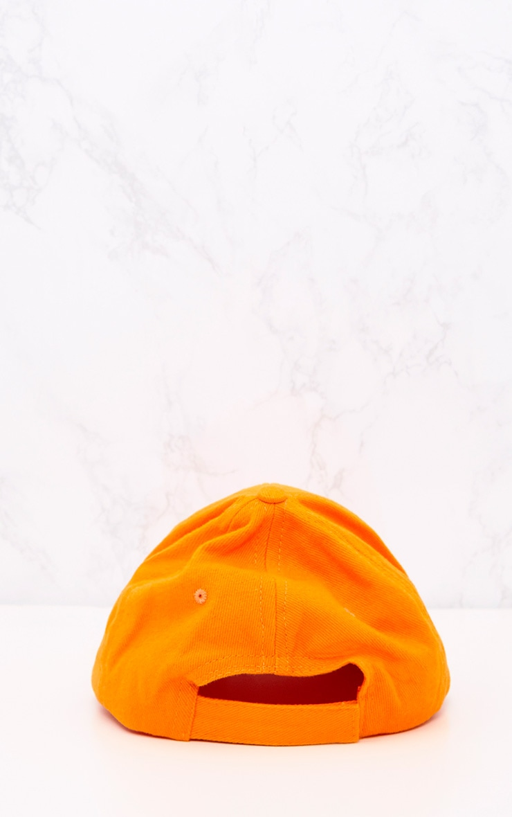 Orange Woven Baseball Cap 4
