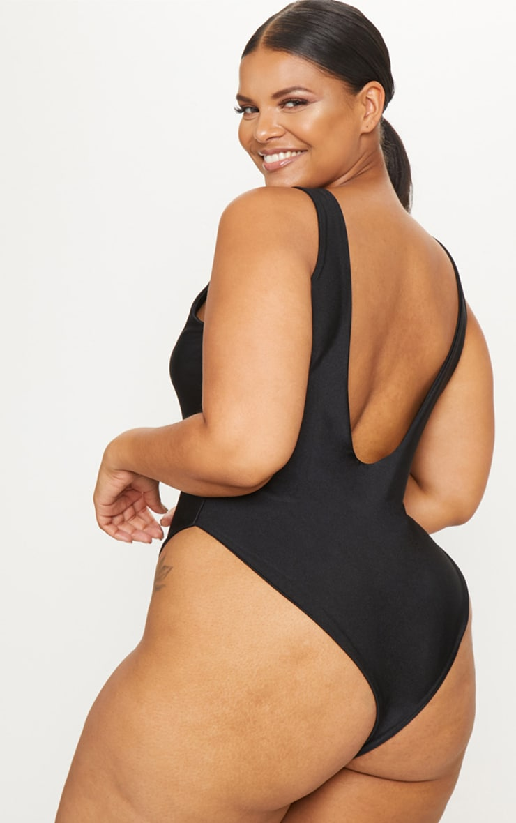Plus Black Babes Of The Bride Black Swimsuit 2