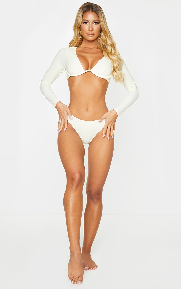Cream Mix & Match Mini Front Bikini Bottoms 3