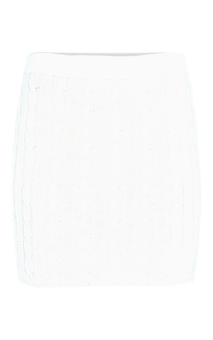 Cream Cable Knitted Skirt 3