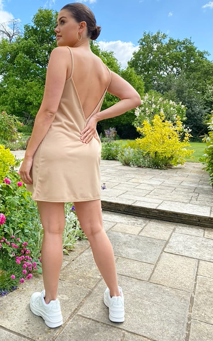 Stone Backless Strappy Detail Cami Dress 2