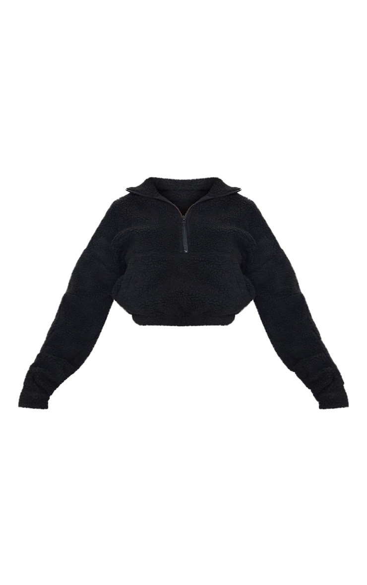 Black Borg Zip Front Oversized Sweater 3