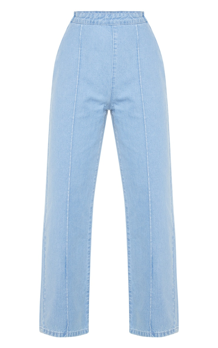 Light Blue Wash Wide Leg Jeans 3