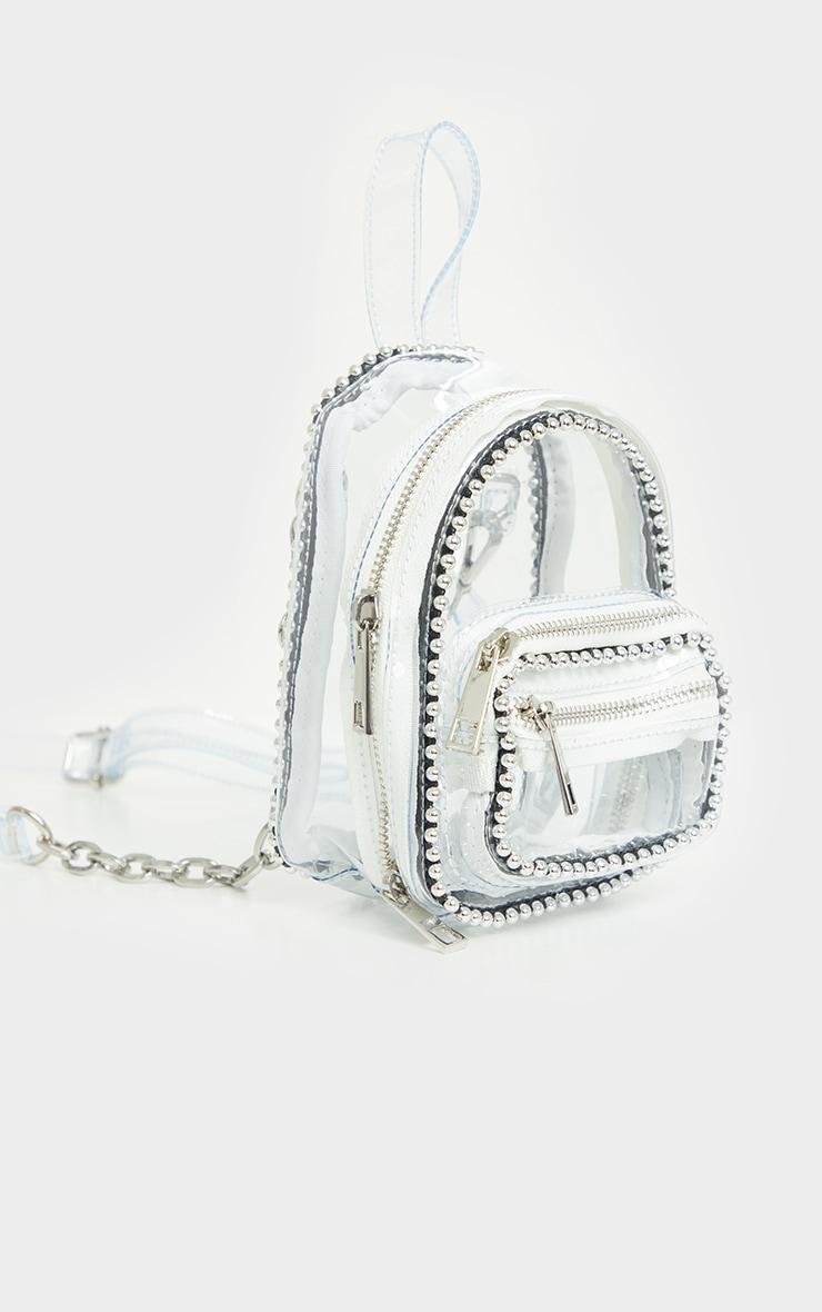 Clear Ball Chain Border Mini Backpack 2