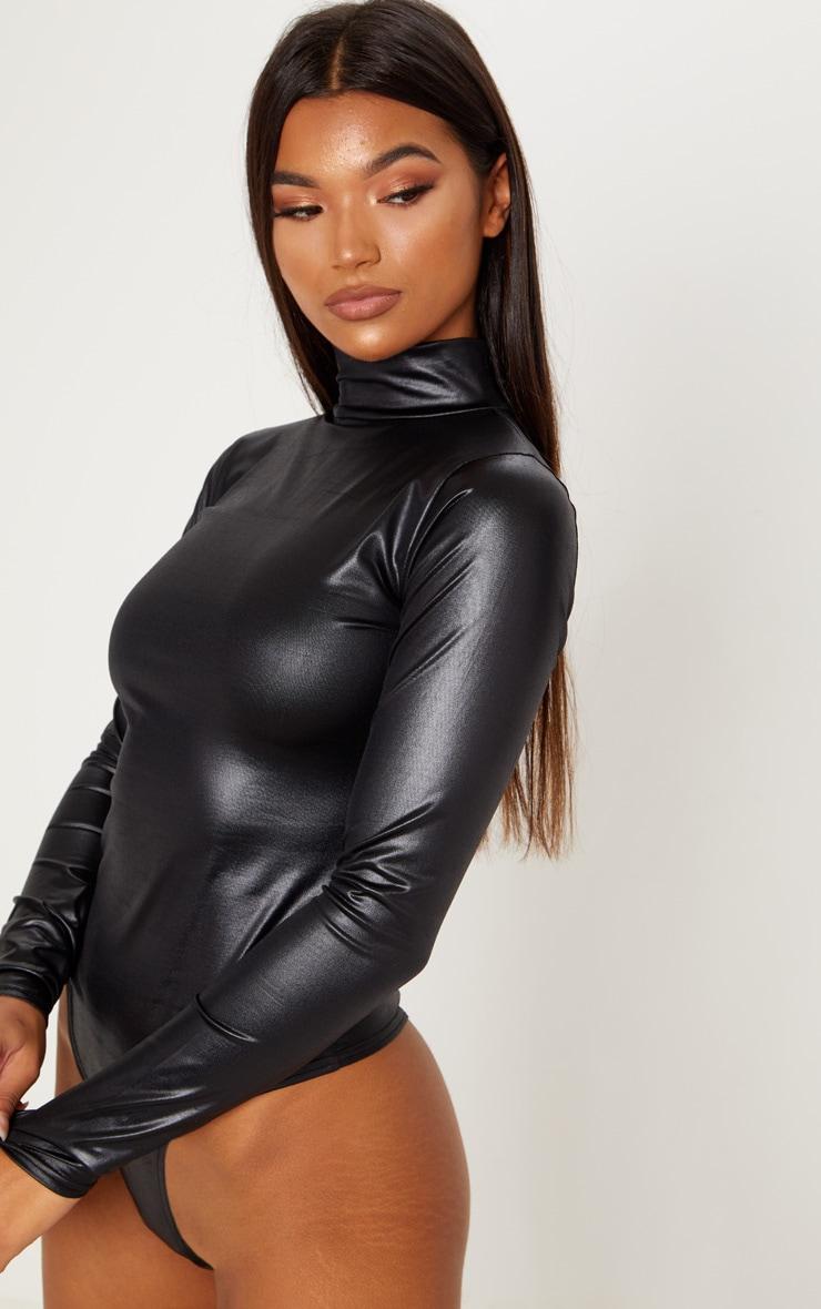 Black High Shine Bodysuit 6