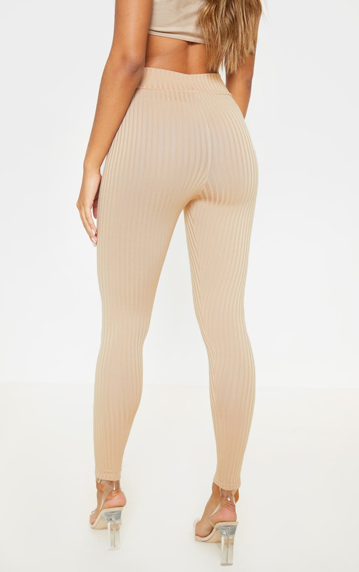 Harlie Stone Ribbed High Waisted Leggings 4